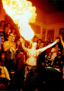 Fire Eating at the 1978 AA Carnival Image credit: AA Photolibrary