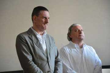 Honouree Peter Rees with AA Council's Hon. Treasurer Paul Warner Image credit: Alexander Furunes