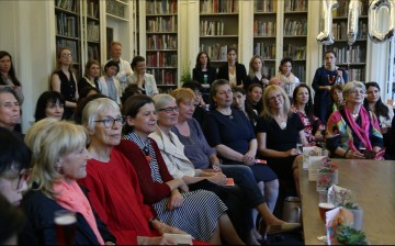 Students, Staff, Members & Patrons gathered in the AA Library for the launch of AAXX Image credit: Samantha Lee