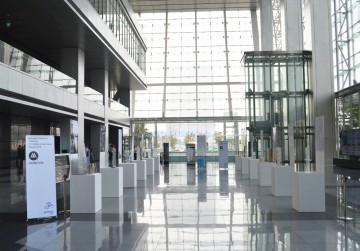 Exhibition at Posco E&C Headquarters Image credit: Minjoo Kim