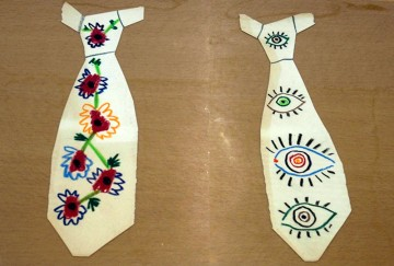 Tie designs by Pablo Picasso in MoMA's Archives  Image credit: David Brady