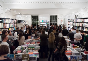 Crowds gather in the AA Bookshop for the launch of The Architecture of David Lynch Image credit: Eduardo Andreu Gonzalez