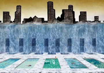 The Baths of Caracalla by Bill Sergison (H&U), Eles Anadon Vargas (H&U), Kathy Nekourouymotlagh (1st Yr)  and Meruert Zhakesheva (H&U)