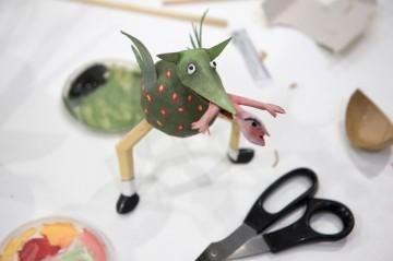 Madelon's human-eating figure Image credit: Valerie Bennett