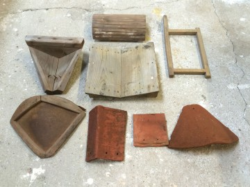 Sample tiles and moulds from HG Matthews brickworks