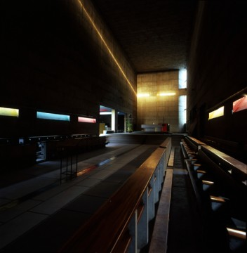 Monastery of Sainte Marie de la Tourette, Éveux-sur-l'Arbresle, France. Image credit: http://www.archdaily.com/597598/light-matters-le-corbusier-and-the-trinity-of-light/