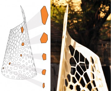 Details of the 3d-printed structure drawn and in-situ Drawing: AAVS Mumbai Image credit: Apoorva Madhavan