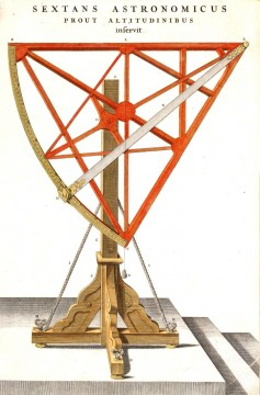 The Sextant invented by Tycho Brahe to measure the distance between stars.