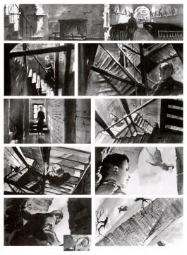 Alfred Hitchcock, Vertigo storyboard sequence, 1956