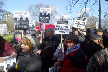 Kill the Housing Bill march in January 2016. Photo: The Socialist Worker
