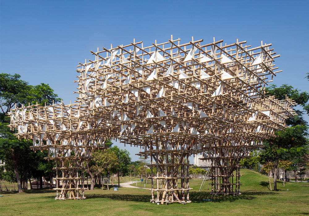 TREEPLETS PAVILION BY IMPROMPTU PROJECTS