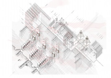 An axonometric of the project