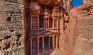 Petra, Jordan – UNESCO World Heritage Site and one of the seven wonders of the world.